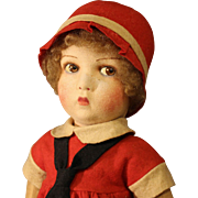 "Wonderful  'Rare'  Antique  ""Raynal""  French  Cloth Doll"