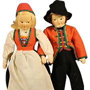 Ronnaug  Petterssen Cloth Dolls (Pair)