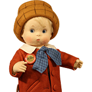 "R. John Wright Cloth Doll - ""Skippy"" - MIB"