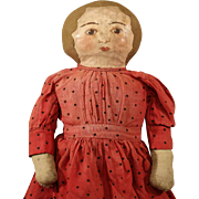 Antique  Cloth Doll with Hand Painted face