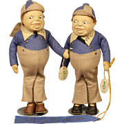 "Rare - Old Cottage Dolls - ""TweedleDee & TweedleDum"""