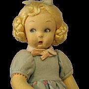 Lenci  Cloth  Doll  - Great Size & All Original