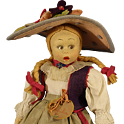 Wonderful Vintage 'Lenci'  Felt Doll