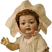 Wonderful Antique German Bisque Baby Doll by Hertel, Schwab & Co.