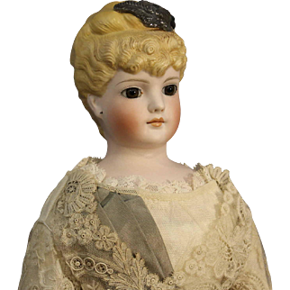 Outstanding Antique German Parian Doll by C.F. Kling & Co. - Marked #128