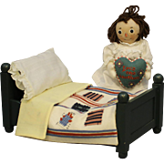 "Darling 'R. John Wright' - ""Raggedy Ann Doll & Her Bed"" - NRFB"