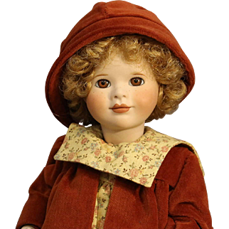 "Wendy Lawton All Bisque Doll - ""Amber Autumn""- MIB"