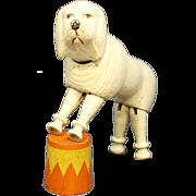 Antique Schoenhut Poodle & Circus Stand