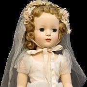 Madame Alexander 17 Inch  Hard  Plastic  Bride  Doll  - 'Margaret Face'