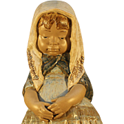 """Rare Vintage  Lladro Figurine - """"Missy or Little Girl With Scarf"""" #4951"""