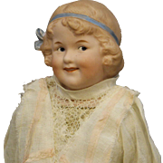 """Darling Antique Heubach Bisque Doll - known as """"Coquette"""""""