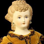 """Emma Clear """"Toinette"""" - Parian Doll - Brown Hair"""