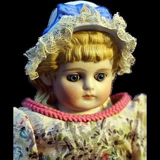 Darling Antique Bonnet Head Parian with Lace on Bonnet
