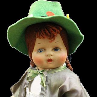 "Darling ""Cloth  Mask  Face""  Doll by Georgene Averill - 'Ireland'"