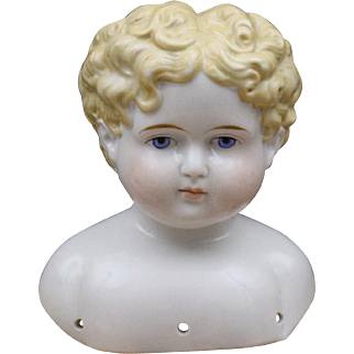 Gorgeous Antique Blonde China Head