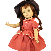 "MADAME ALEXANDER 14 Inch ""MARGARET O'BRIEN"" COMPOSITION DOLL"