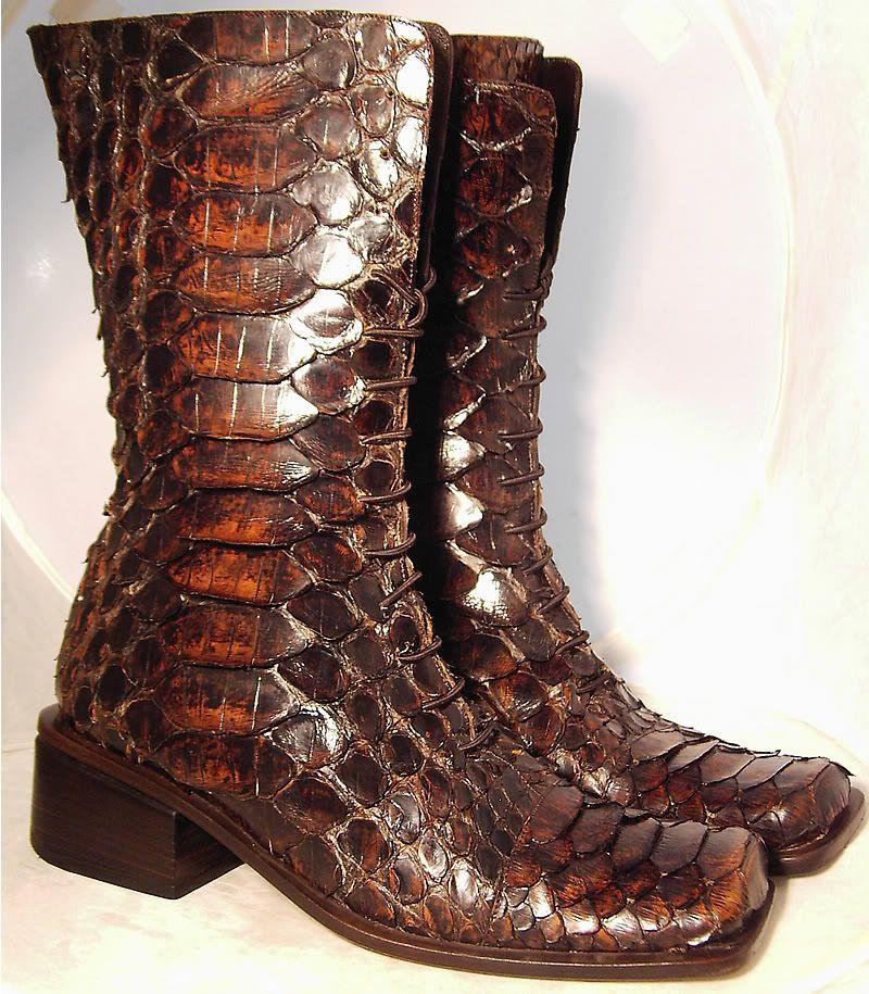 Vintage GIANNI BRAVO Phantom  Snake Skin Ladies Gothic Boot