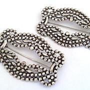 Vintage Miriam Haskell Cut Steel Brooch Pin / Duette