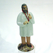 Czechoslovakian Art Glass Physician General Practice Figure