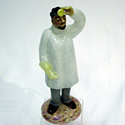 Czechoslovakian Art Glass Surgeon Doctor Figure