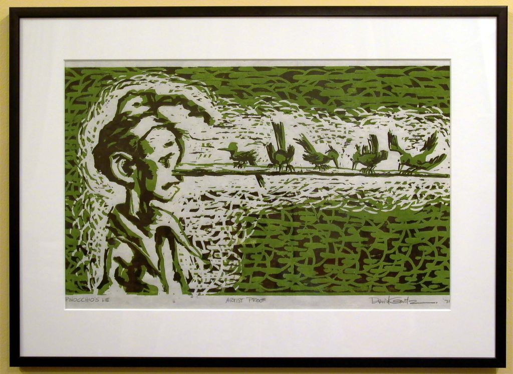 David Gantz - Lino Cut on Rice Paper