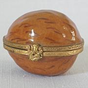 Tiffany Limoges France Hand Painted Walnut Trinket Box Thistle Latch