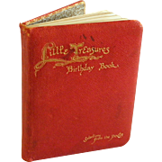 Vintage Little Treasures Illustrated Birthday Book with Selections form the Poets
