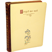 Antique 1905 Forget-Me-Not Birthday Book With Proverbs & Sentiments