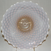 Beautiful Vintage FENTON Cranberry or Pink Opalescent Hobnail Bowl
