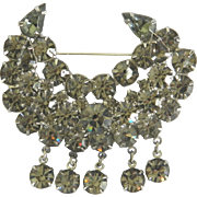 Wonderful Vintage Rhinestone Brooch Pin