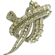 Wonderful Fine Large Vintage Rhinestone Bejeweled Brooch Pin