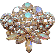 Vintage Crystal Rhinestone Brooch Pin