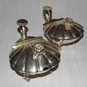 Pair Antique Art Nouveau BOULENGER French Silver Plate Footed Servers