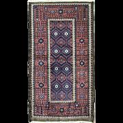 Incredible Antique Belouch Rug, 3' x 6'