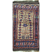 "Unique Antique Belouch Rug, 3'4"" x 6'4"""