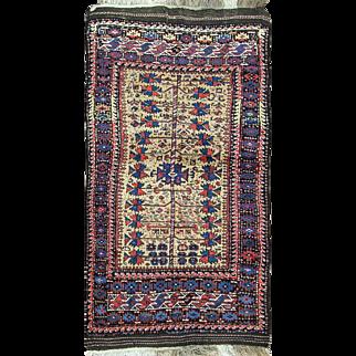 """Unique Antique Belouch Rug, 3'4"""" x 6'4"""""""