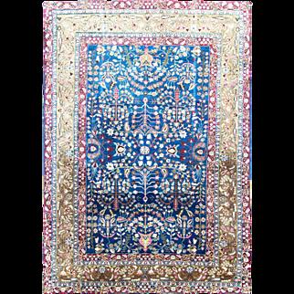"Elegant Persian Tabriz Carpet,7'2"" x 10'3"""