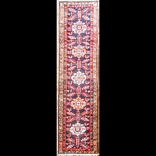 """2'5"""" x 10'2"""" Persian Heriz handmade  Runner"""