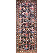 "3'6"" x 9'6"" Magnificent Persian Bakhtiari Runner, c-1930's"