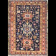 "3'2"" x 4'5"" fabulous Persian Heriz Oriental Rug, c-1920's"