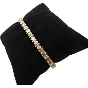 14kt Vintage diamond ladies line bracelet.