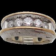 14kt .95 Diamond men's ring