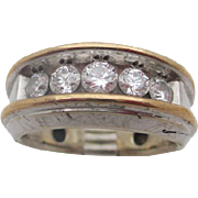 14kt .95 Diamond gentlemans ring