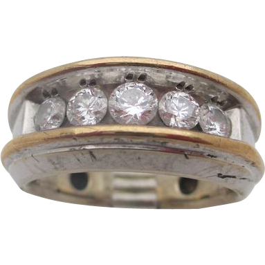 14kt .95 Diamond men's ring