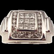 14kt  Vintage gentlemans diamond ring
