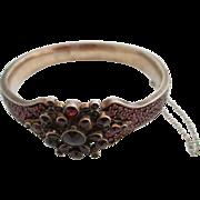 14kt Ladies Victorian Bohemian garnet bracelet