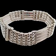 14kt Gentlemans vintage white-gold bracelet