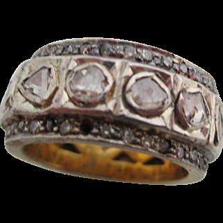 Ladies Mogul rose-cut diamond ring.