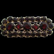 Ladies antique Bohemian garnet pin.