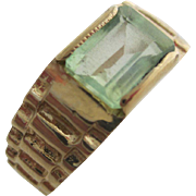 Gentlemans vintage 14kt emerald ring.